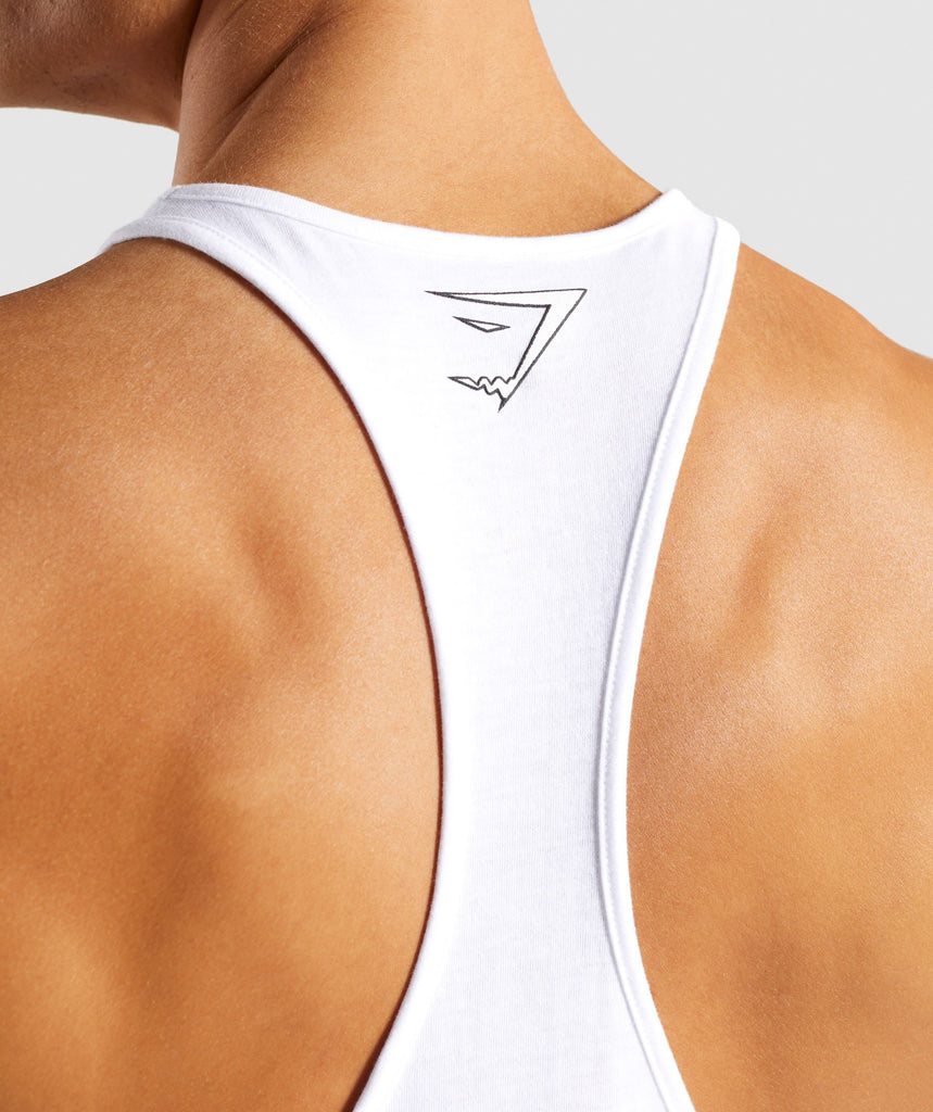 Gymshark Profile Stringer - White 6