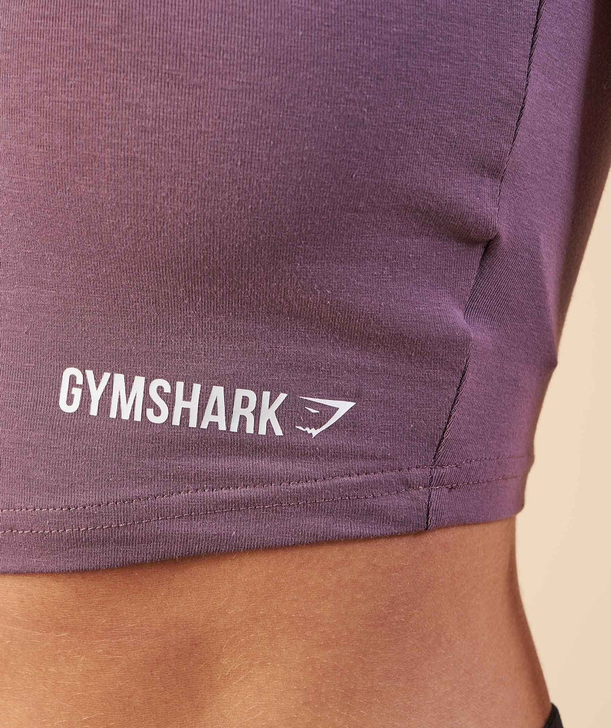 Gymshark Basic Crop Top - Purple Wash