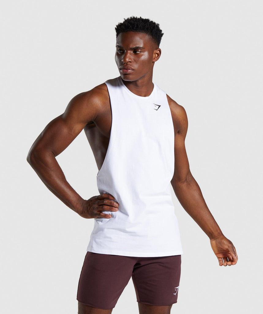 Gymshark Quote Tank - White 1