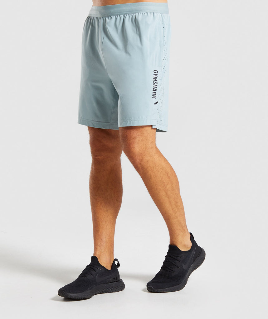 Gymshark Raid Shorts - Light Blue 1