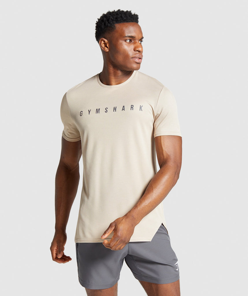 Gymshark Recharge T-Shirt - Sand Stone 1