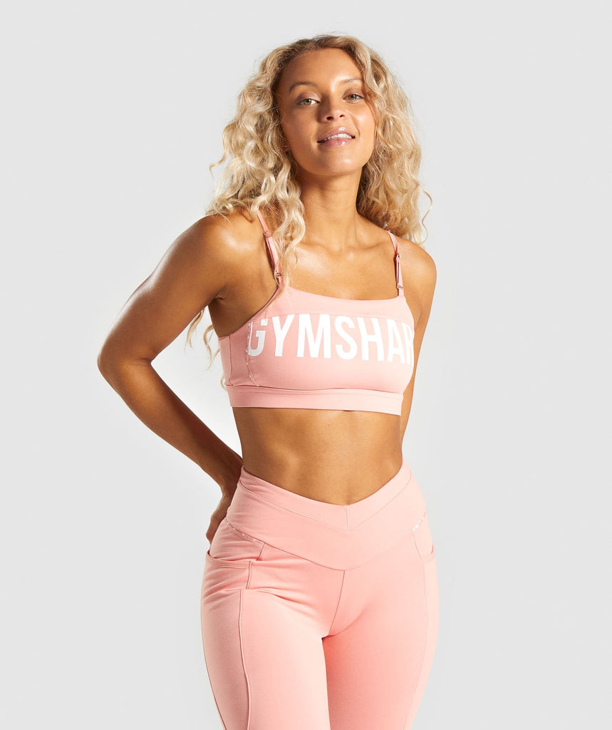 Gymshark Recess Sports Bra - Peach 1