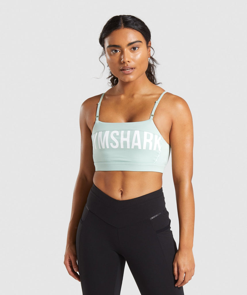 Gymshark Recess Sports Bra - Light Green 1