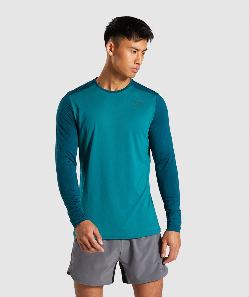 Gymshark Speed Long Sleeve T-Shirt - Green 1
