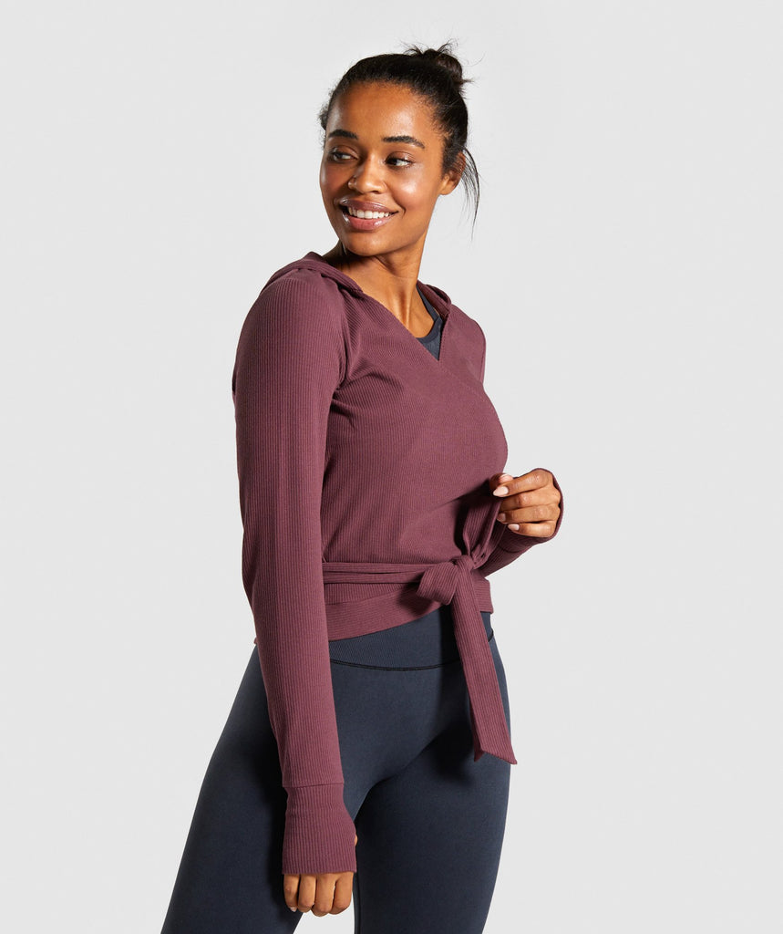 Gymshark Studio Recovery Hoodie - Berry Red 1
