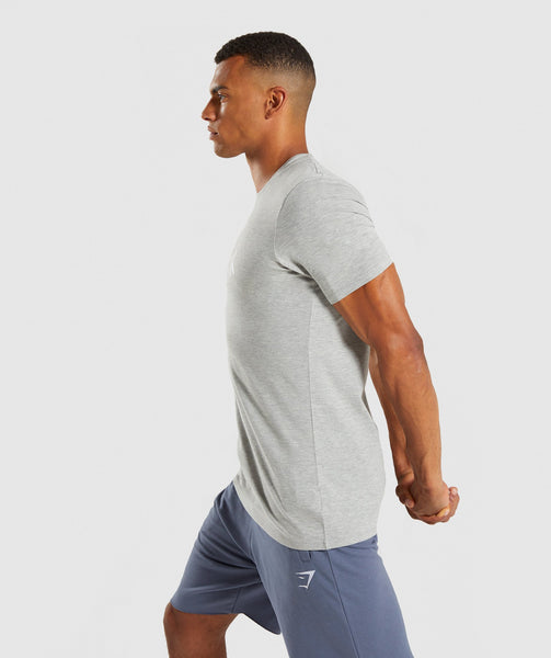 Gymshark Score T-Shirt - Light Grey Marl 2