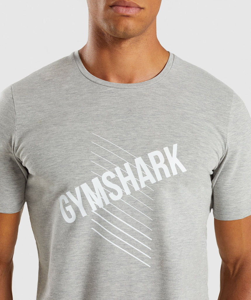 Gymshark Score T-Shirt - Light Grey Marl 6