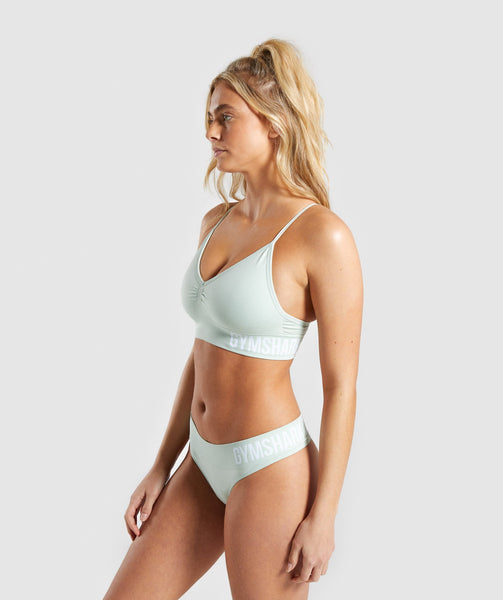 Gymshark Seamless Bralette - Light Green 2