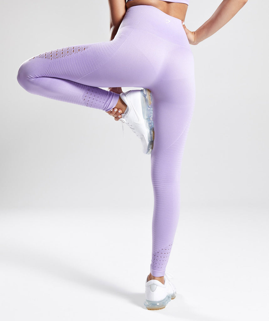 Gymshark Energy Seamless High Waisted Leggings - Pastel Lilac 2