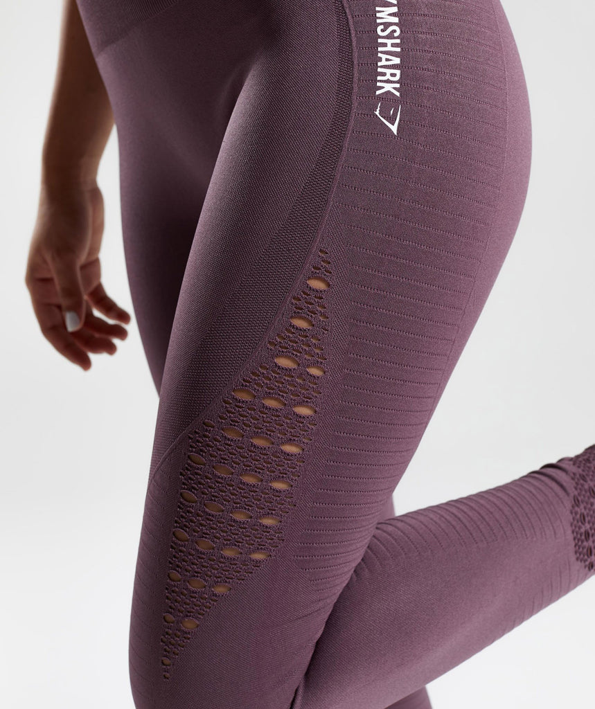 Gymshark Energy Seamless High Waisted Leggings - Purple Wash 5