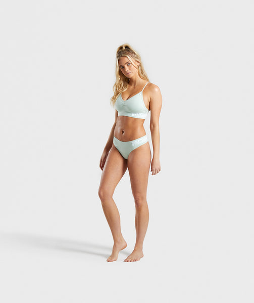 Gymshark Seamless Thong - Light Green 4