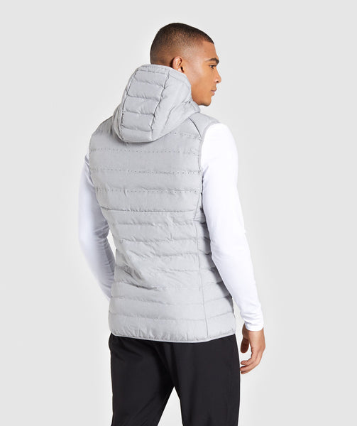 Gymshark Sector Gilet V2 - Light Grey 1