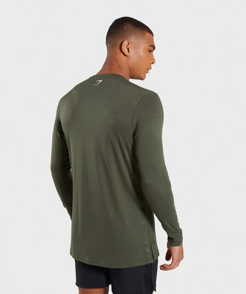 77a50ff92d38 Gymshark Shadow Long Sleeve T-Shirt - Dark Green | Gymshark