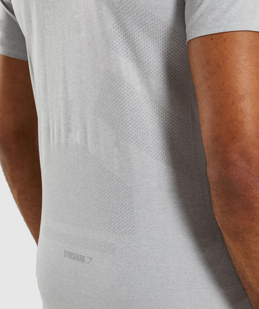 Gymshark Shadow Seamless T-Shirt - Light Grey Marl 5