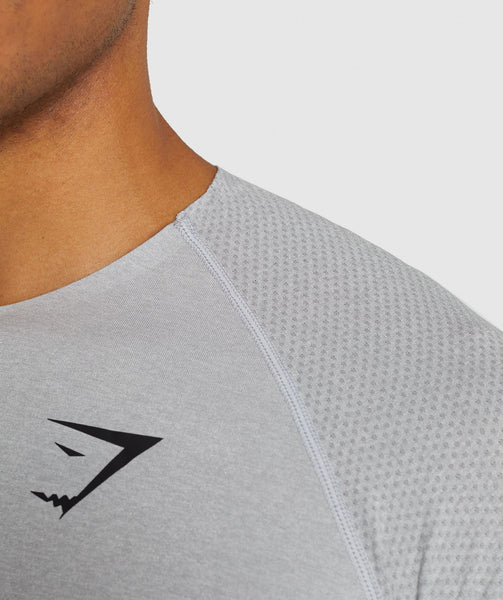Gymshark Shadow Seamless T-Shirt - Light Grey Marl 4