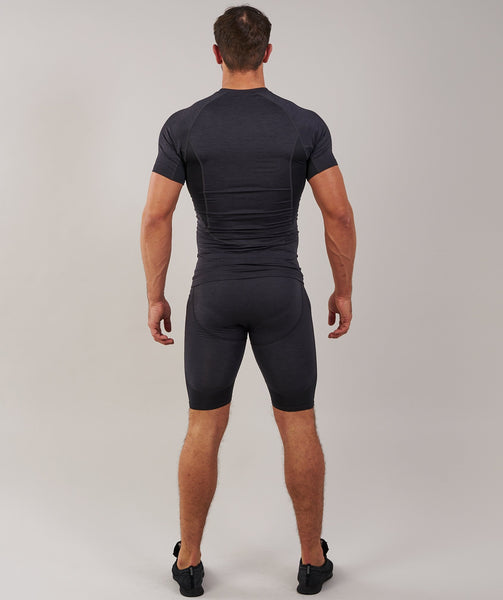 Gymshark Element Baselayer Shorts - Black Marl 1