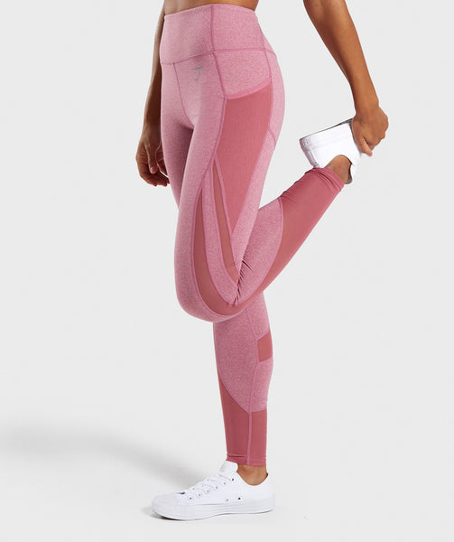 Gymshark Sleek Sculpture Leggings 2.0 - Dusky Pink Marl 2