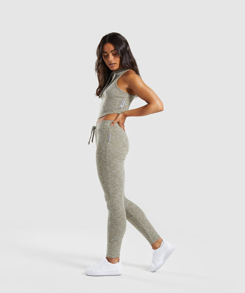 Gymshark Slounge Leggings - Washed Khaki Marl 3