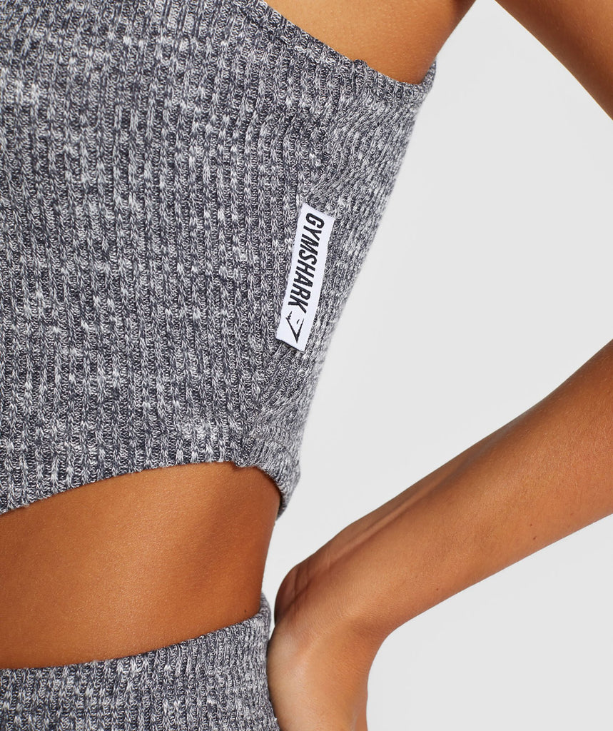 Gymshark Slounge Crop Top - Charcoal Marl 6