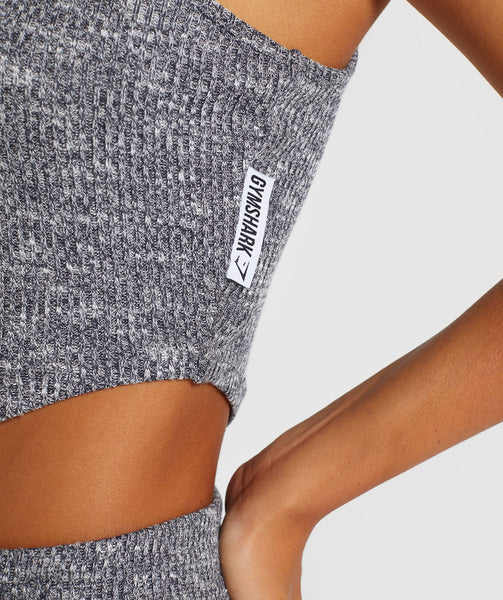 Gymshark Slounge Crop Top - Charcoal Marl 4