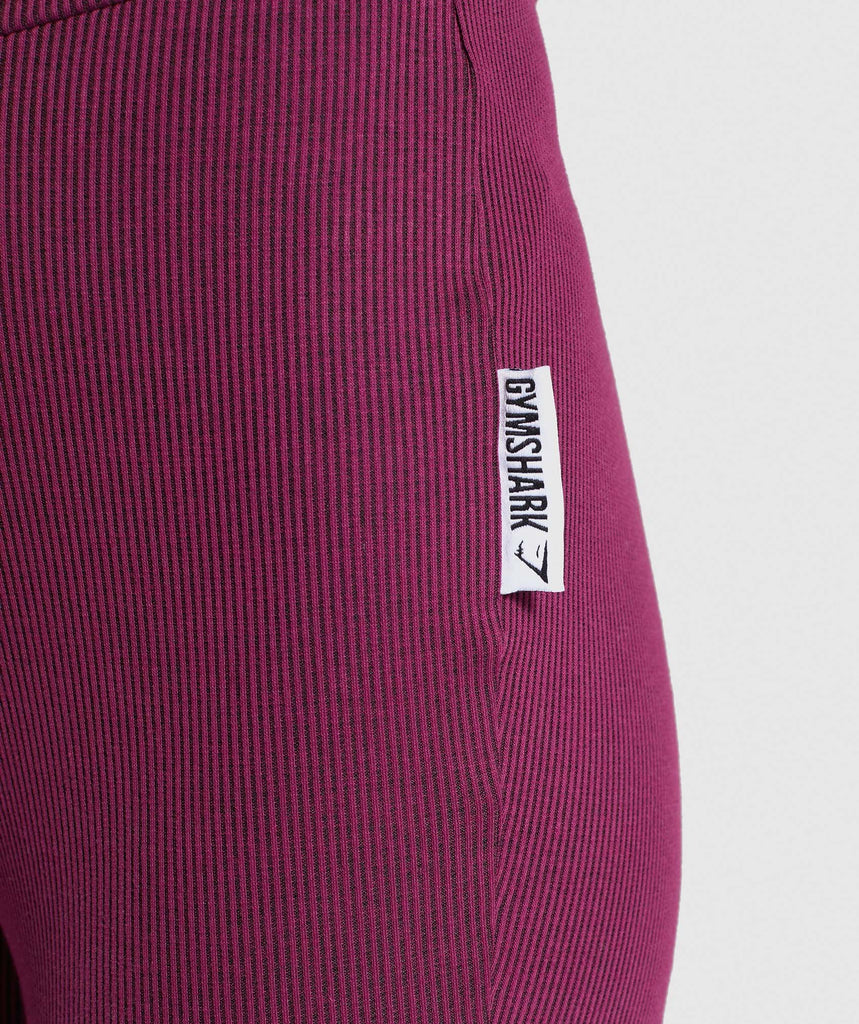 Gymshark Slounge Ribbon Bottoms - Dark Ruby Marl 5
