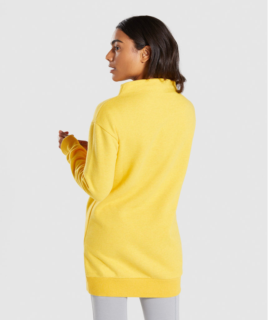 Gymshark So Soft Sweater - Citrus Yellow Marl 2