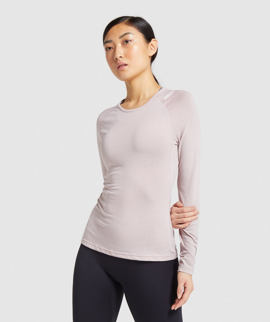 Gymshark Training Long Sleeve Top - Pink 1