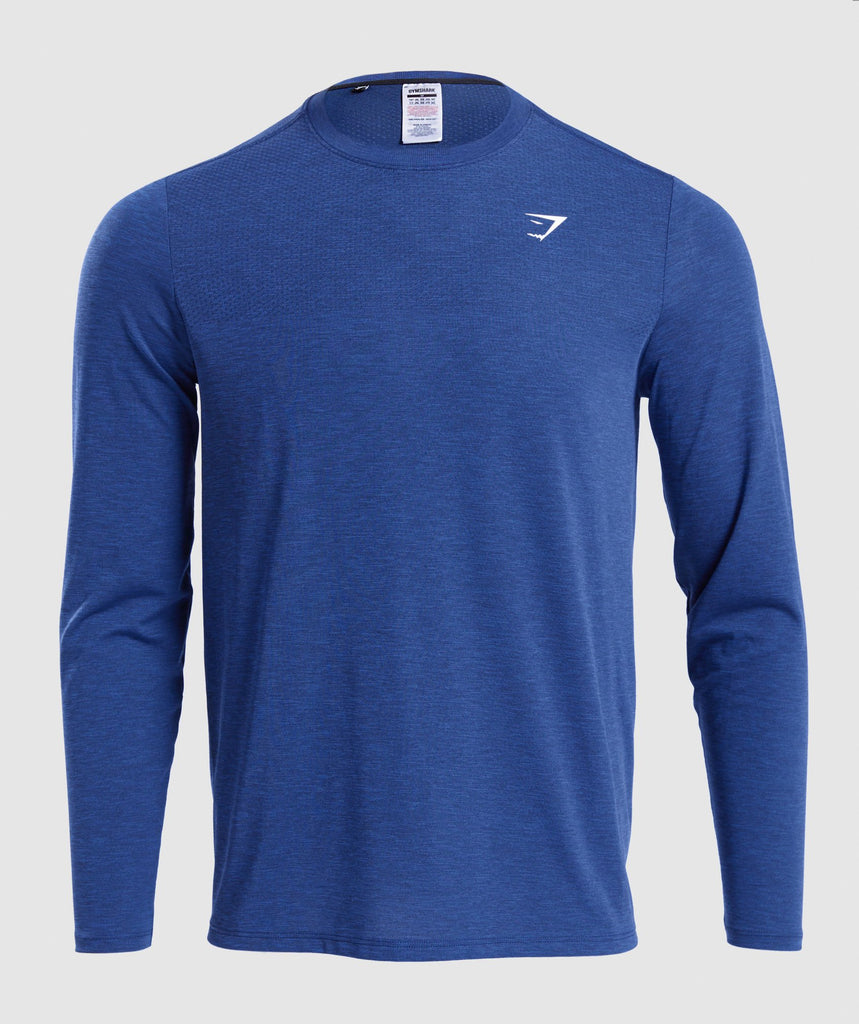 Gymshark Vital Long Sleeve T-Shirt - Blue 1