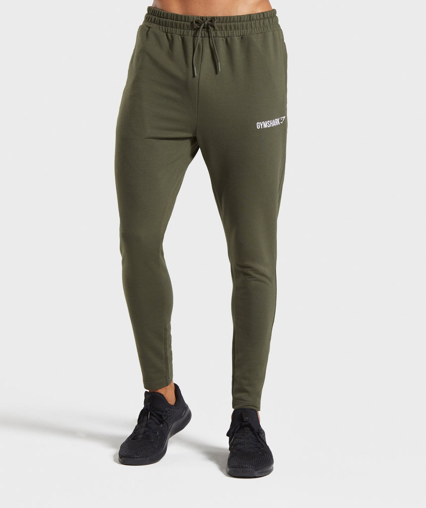Gymshark Tapered Bottoms - Dark Green 1