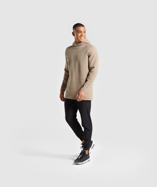 Gymshark Textured Pullover - Driftwood Brown 2