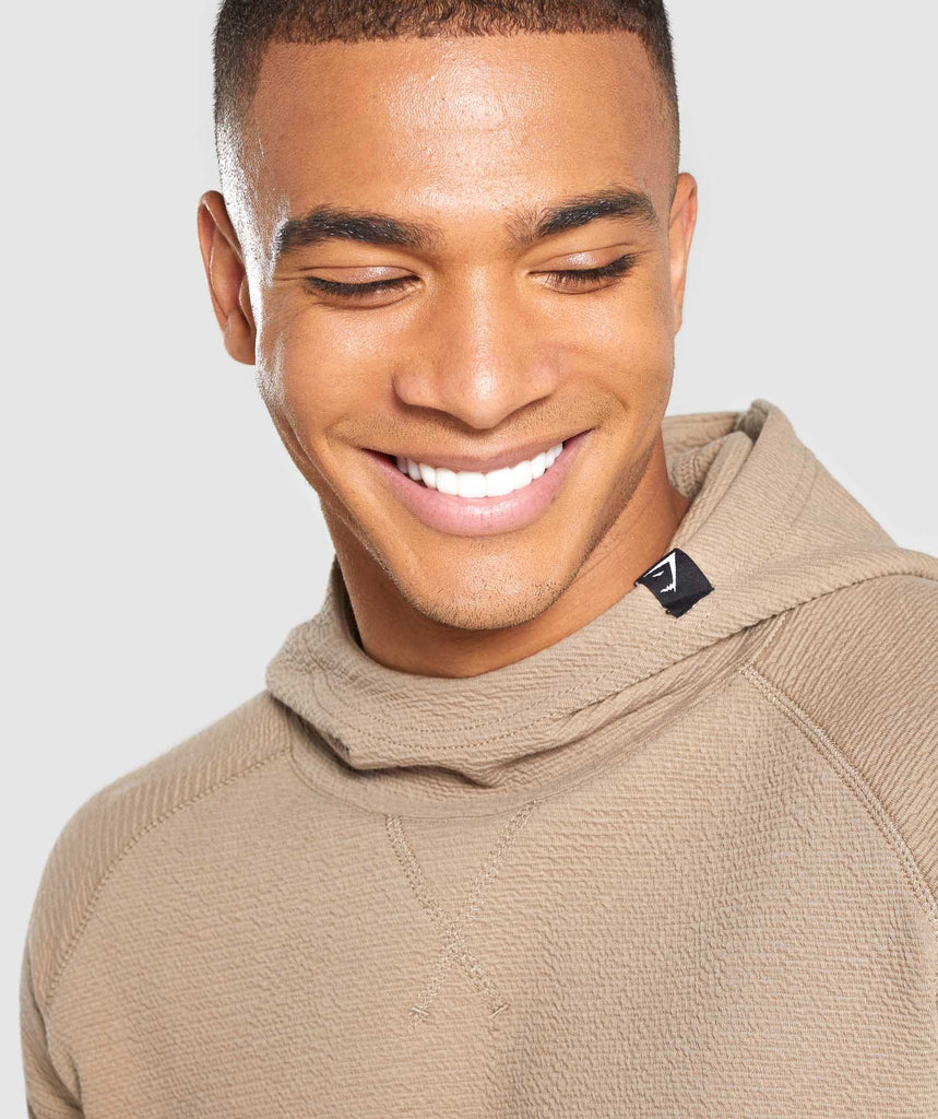 Gymshark Textured Pullover - Driftwood Brown 5