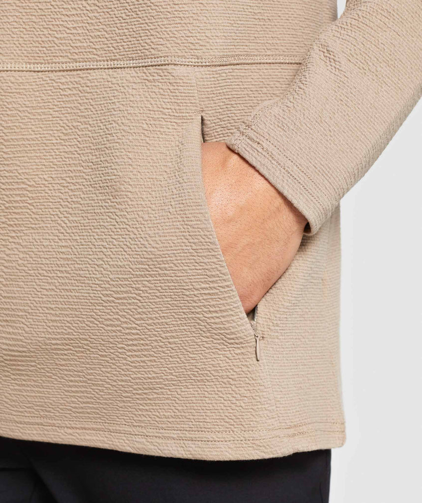 Gymshark Textured Pullover - Driftwood Brown 6