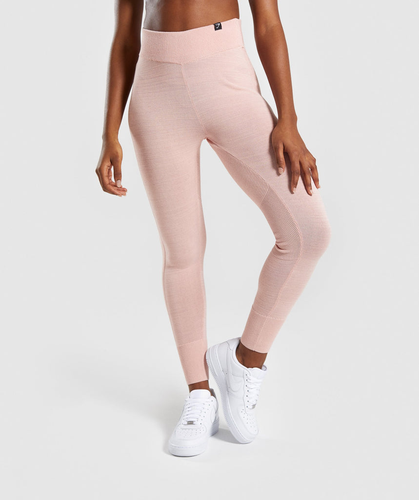 Gymshark Time Out Knit Joggers - Blush Nude 1
