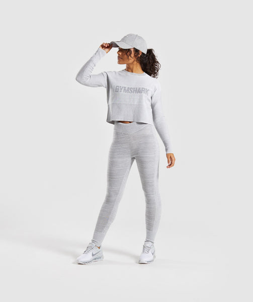 Gymshark Time Out Knit Joggers - Light Grey 4