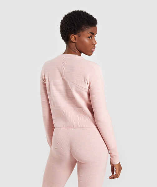 Gymshark Time Out Knit Sweater - Blush Nude 1