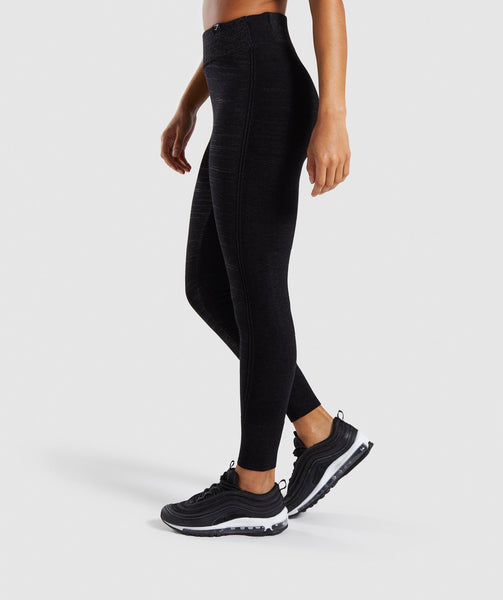 Gymshark Time Out Knit Joggers - Black Marl 2