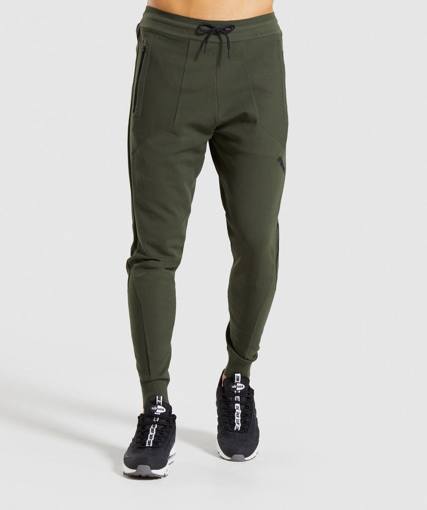 Gymshark True Knit Joggers - Green 1