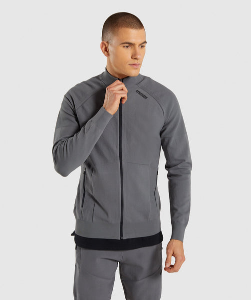 Gymshark True Knit Zip Up - Smokey Grey 4