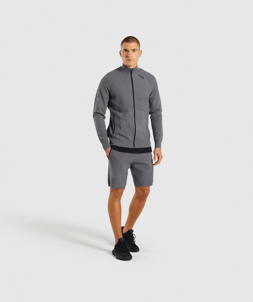 Gymshark True Knit Zip Up - Smokey Grey 3