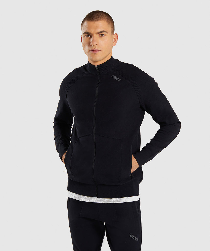 Gymshark True Knit Zip Up - Black 1