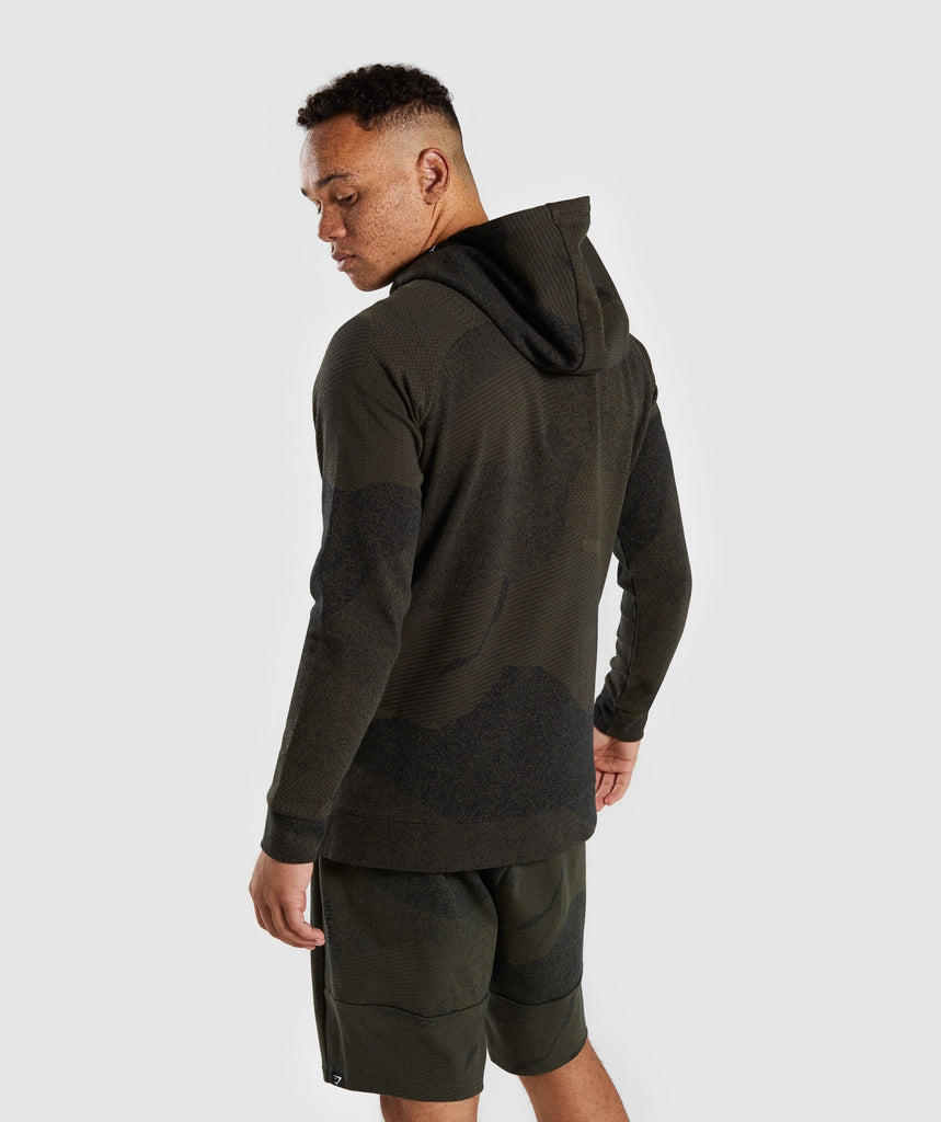 Gymshark Ultra Jacquard Pullover - Woodland Green 2
