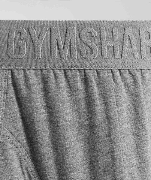 Gymshark Debossed Logo Trunks 2pk - Charcoal Marl 3