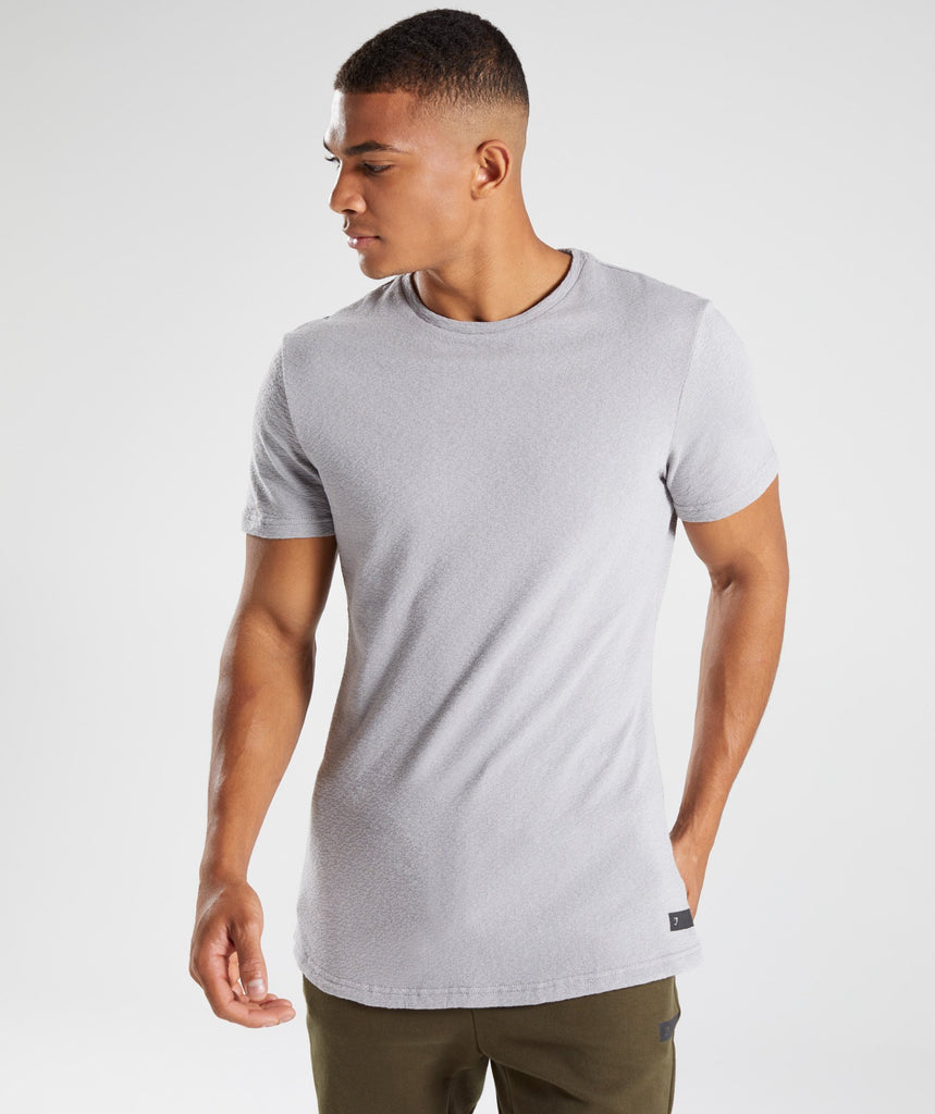 Gymshark Unwind T-Shirt - Light Grey 1
