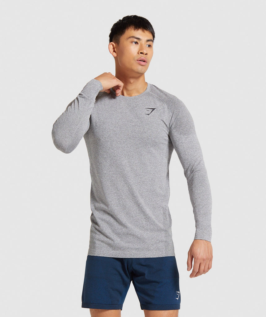 Gymshark Vital Seamless Long Sleeve T-Shirt - Grey 1