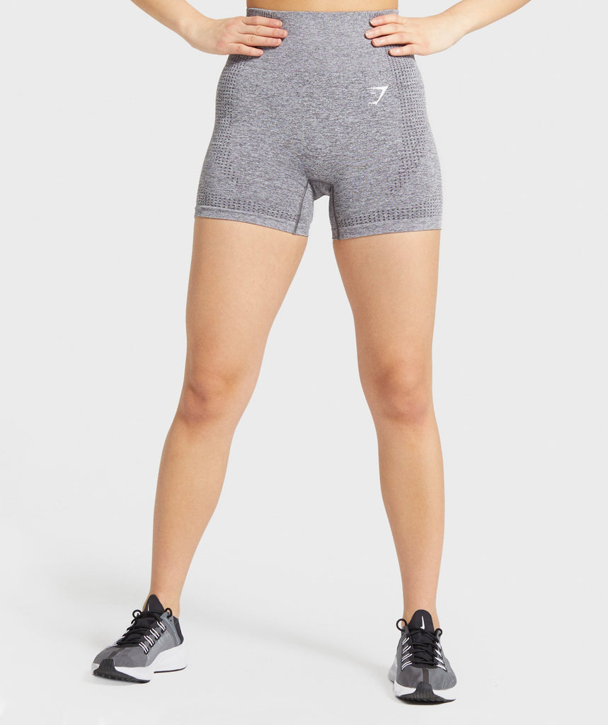 Gymshark Vital Seamless Shorts - Smokey Grey Marl 1
