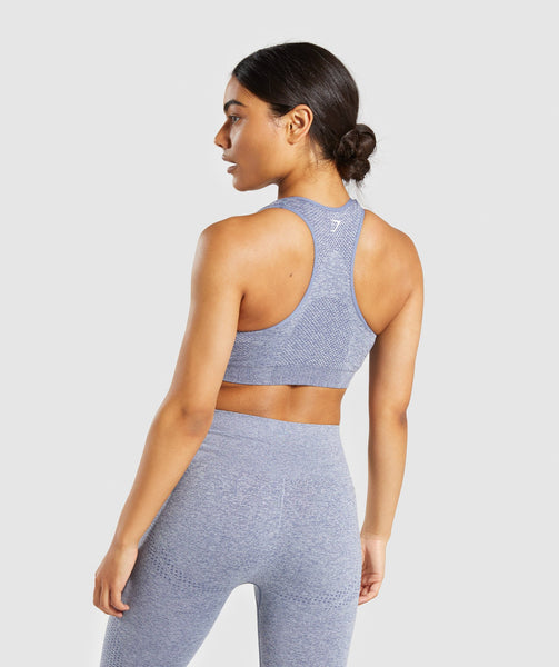 Gymshark Vital Seamless Sports Bra - Steel Blue Marl 1