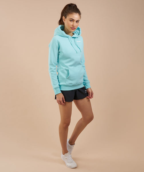 Gymshark Women's Crest Hoodie - Pale Turquoise