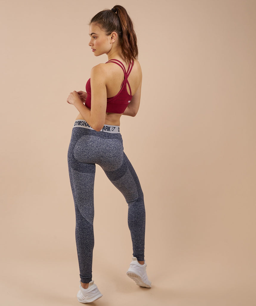 Gymshark Flex Leggings - Sapphire Blue Marl/Light Grey 5