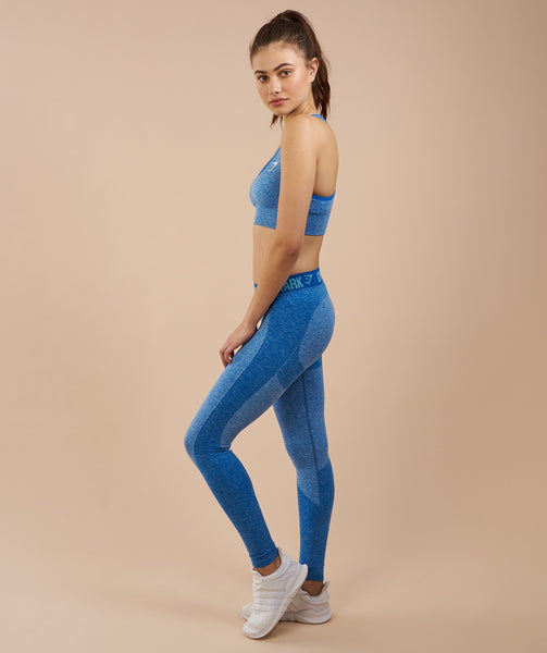 Gymshark Flex Leggings - Blueberry Marl/Marine Blue 3