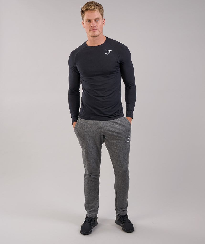 Gymshark Lightweight Long Sleeve T-Shirt - Black
